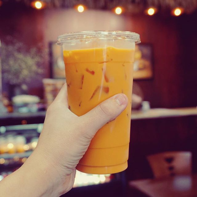 You can't say no to an ice cold Thai Tea! #hangoutasiangrill #yourcity #localfood #restaurants #typeofcuisine #houston #houstonfoodie