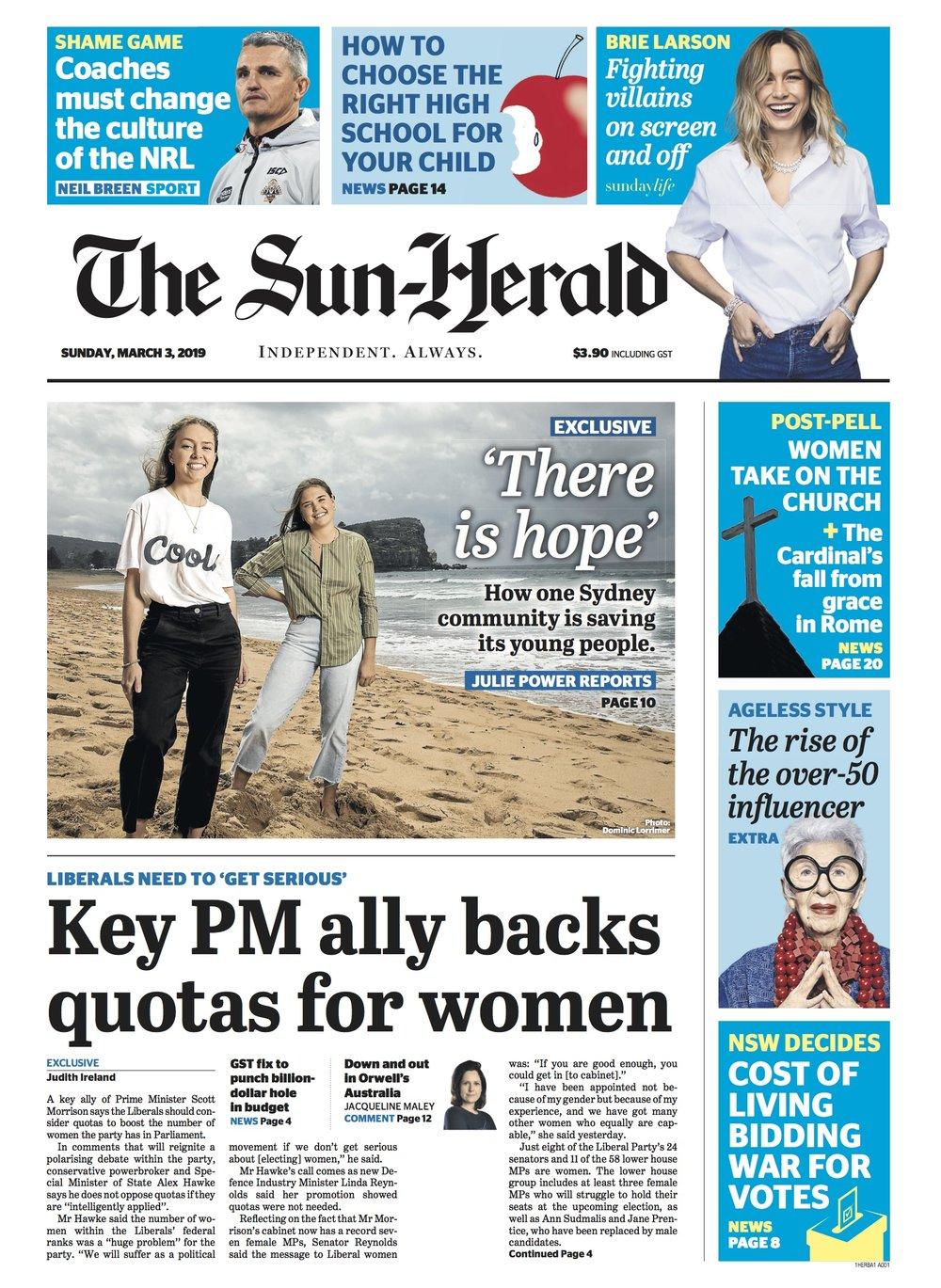 The Sun Herald     3 March 2019