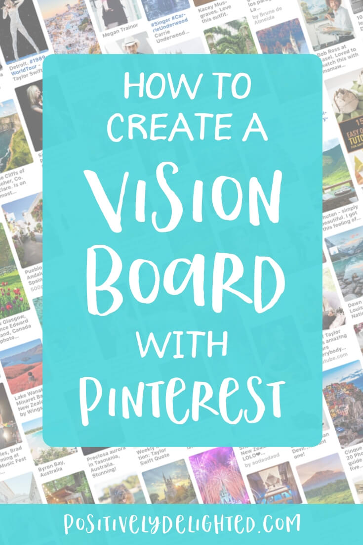 Learn how to make a digital vision board that you can take anywhere you go! A vision board is a visual representation of your goals, dreams, inspiration, and desires. It's a tool to help you visualize what you want in life. Since Pinterest is awesome and has hundreds of thousands of images to pin from, it seemed the perfect tool to use to make a digital vision board!