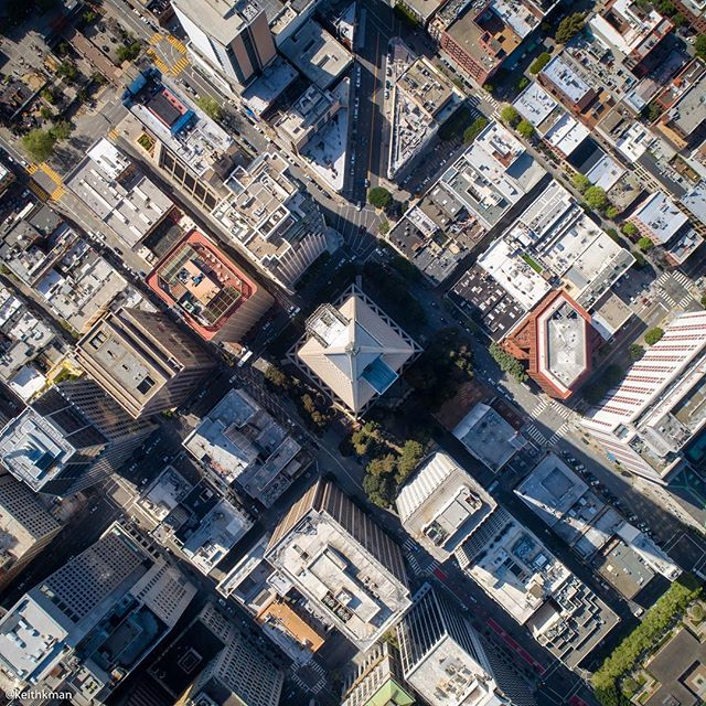 The Transamerica Pyramid - It's hard to imagine that little square was the 8th tallest building in the world when it was completed in 1972 and remained the tallest building in SF until 2017. Sometimes perspective changes everything.