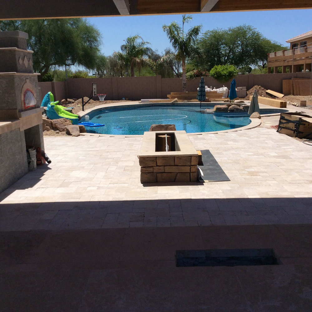 West View of Pool and Fire Line under Ramada Unfinished Tripi Yard.jpg