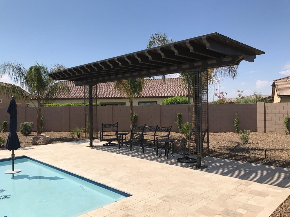 Two post Pergola with trellis cages for vines.jpg