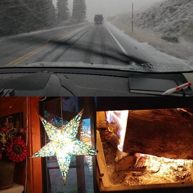Home again, home again jig-a-jee- jig...back from Steamboat, snow on the top of Lizard Head pass and first fire of the season #livinginthe4corners