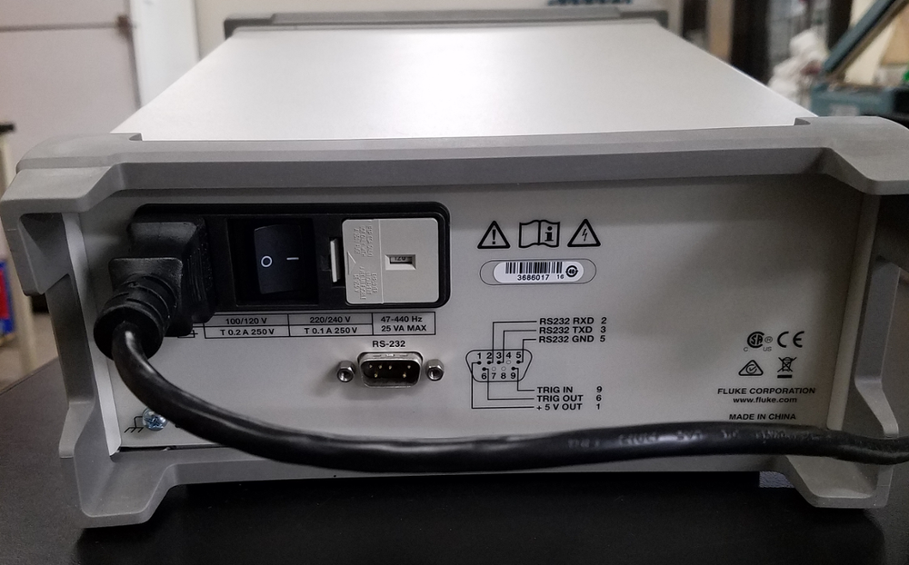 Fluke 8808A Multimeter Back