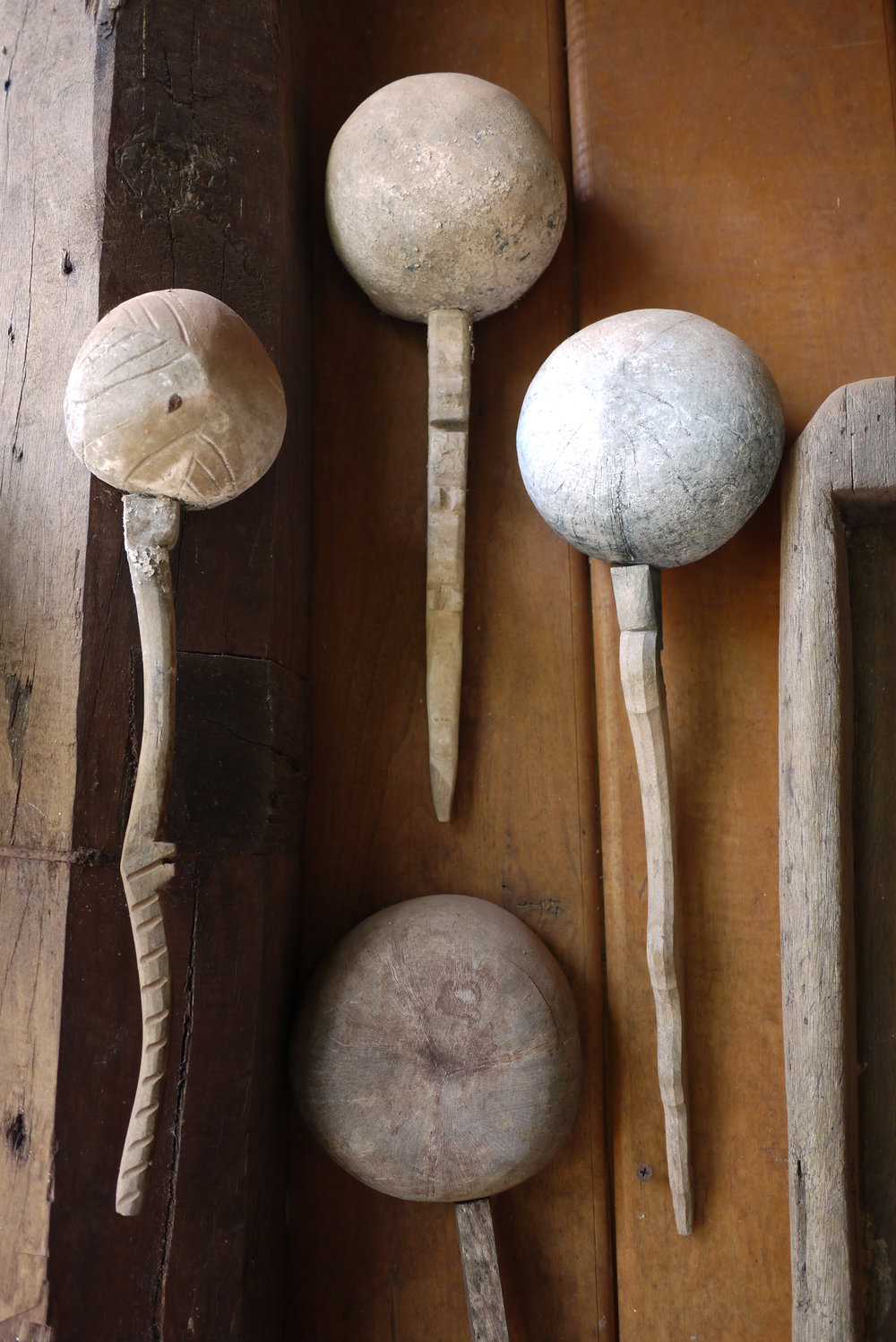 Ladles used for dyeing