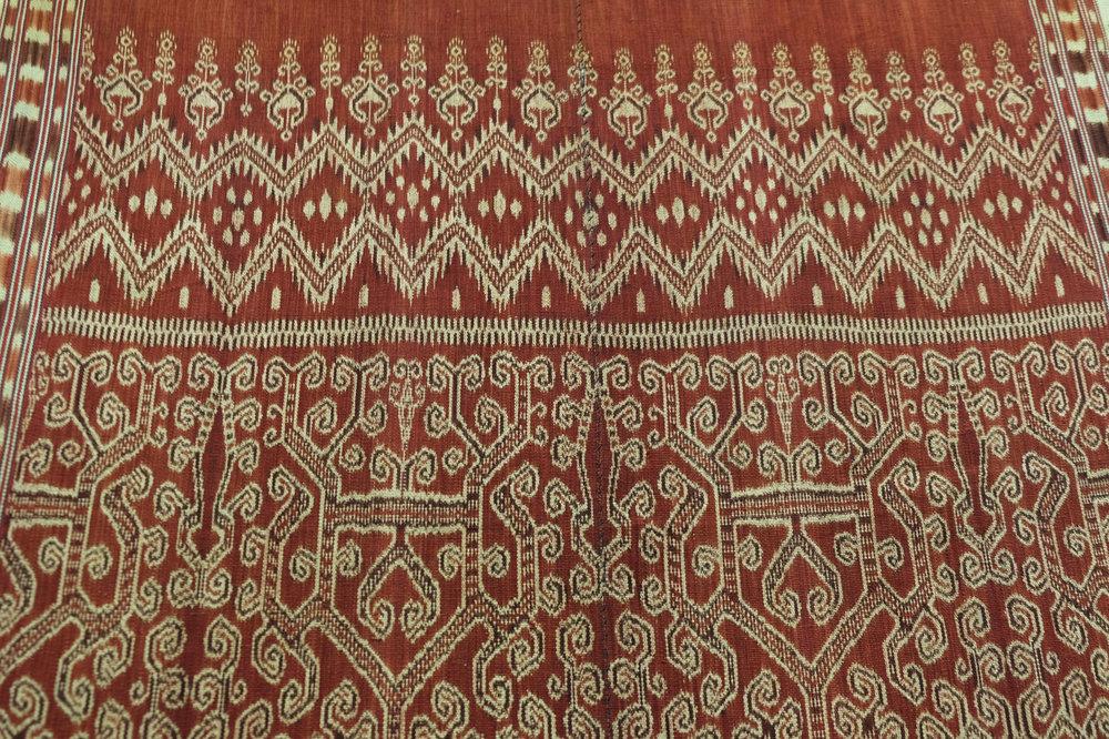 Borneo, Sarawak Saribas, Iban people Pua, ritual blanket Warp ikat in hand-spun cotton 1940