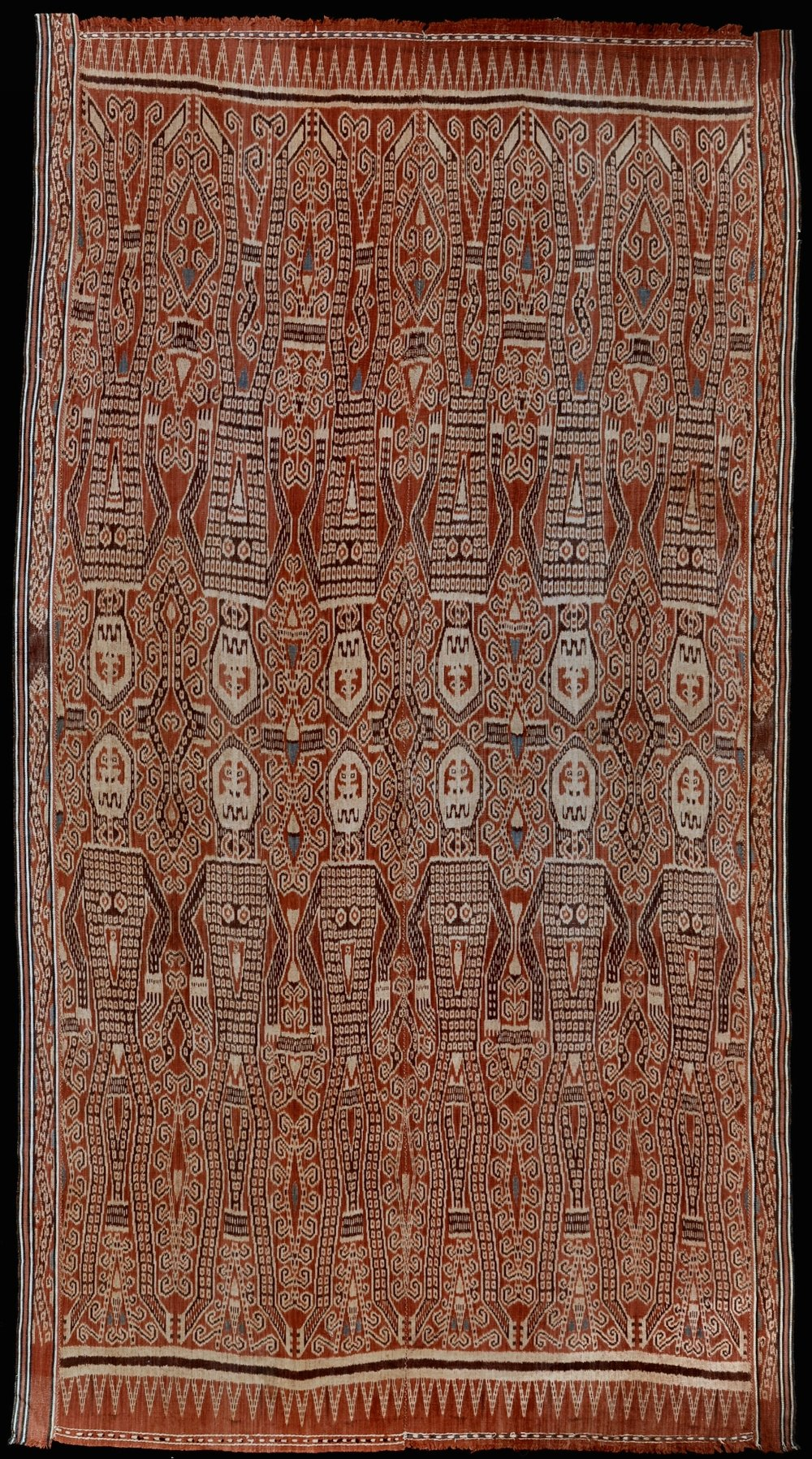 Borneo, Sarawak Iban people Pua, ritual blanket Warp ikat in hand-spun cotton 1925–1945