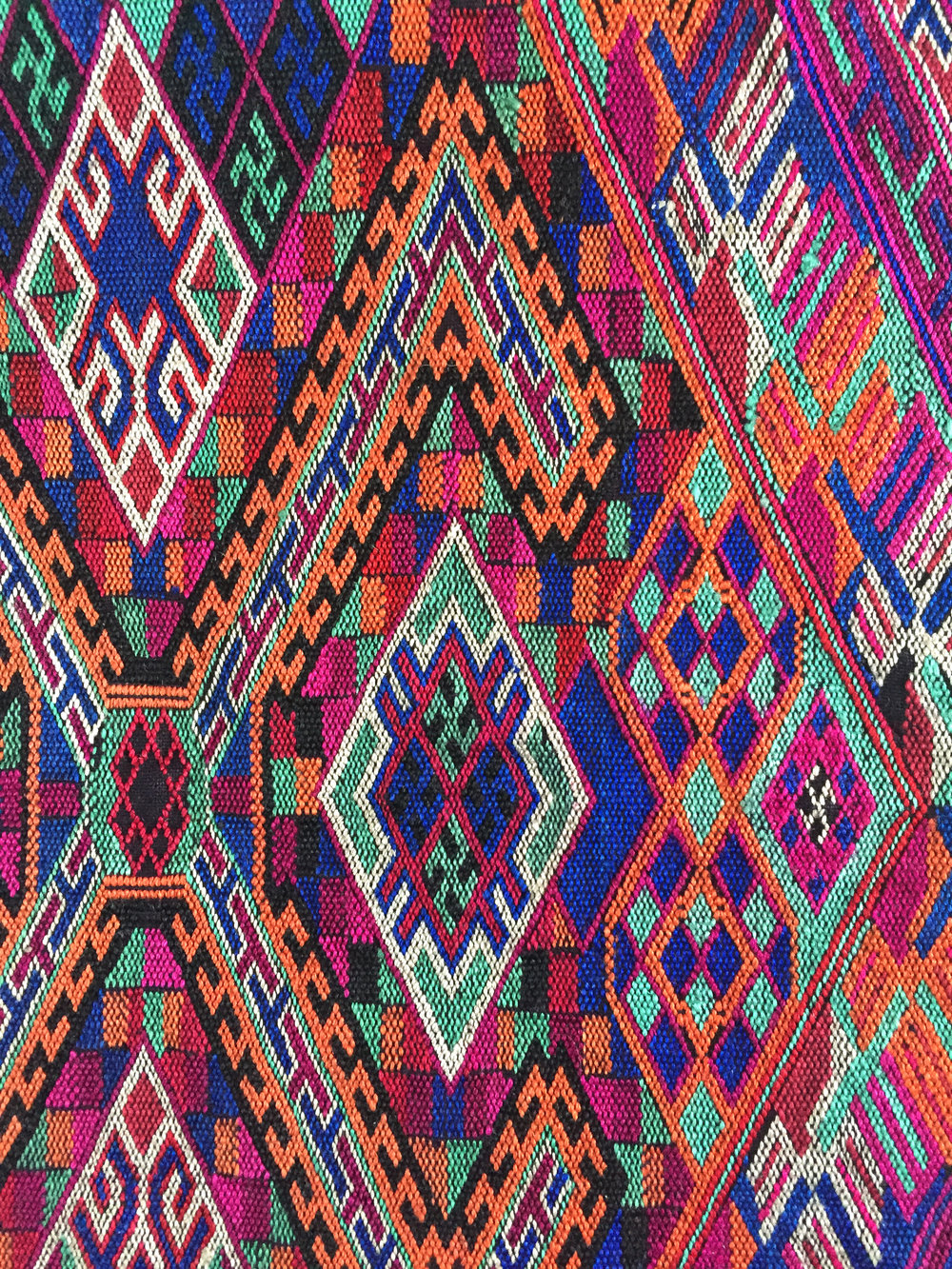 Miao embroidery with switchback darning stitch (數紗绣) from Guizhou, China. Yang Wen Bin Collection.