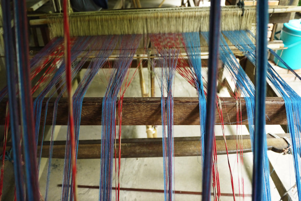 Local cotton threads in natural dyes