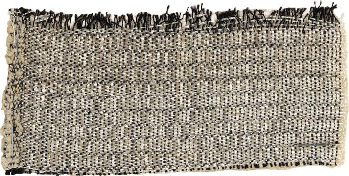 Anni Albers. Cellophane, cotton, chenille, 1929. 6 × 13 cm