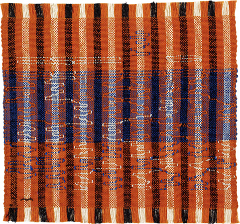 Anni Albers. Intersecting, 1962. Cotton and rayon. 40 × 41.9 cm. Josef Albers Museum Quadrat Bottrop