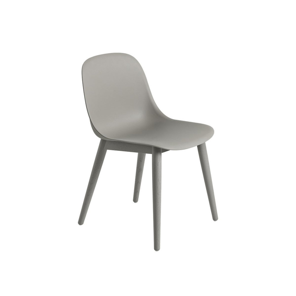 Fiber dining chairs wood base