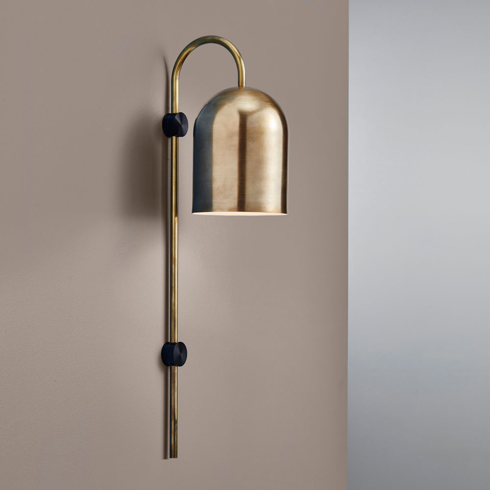 Duomo stem wall light brass home duomo stem wall light brass aloadofball Choice Image