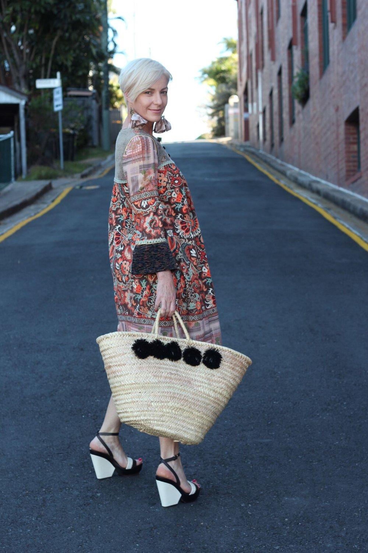 70s smock dress