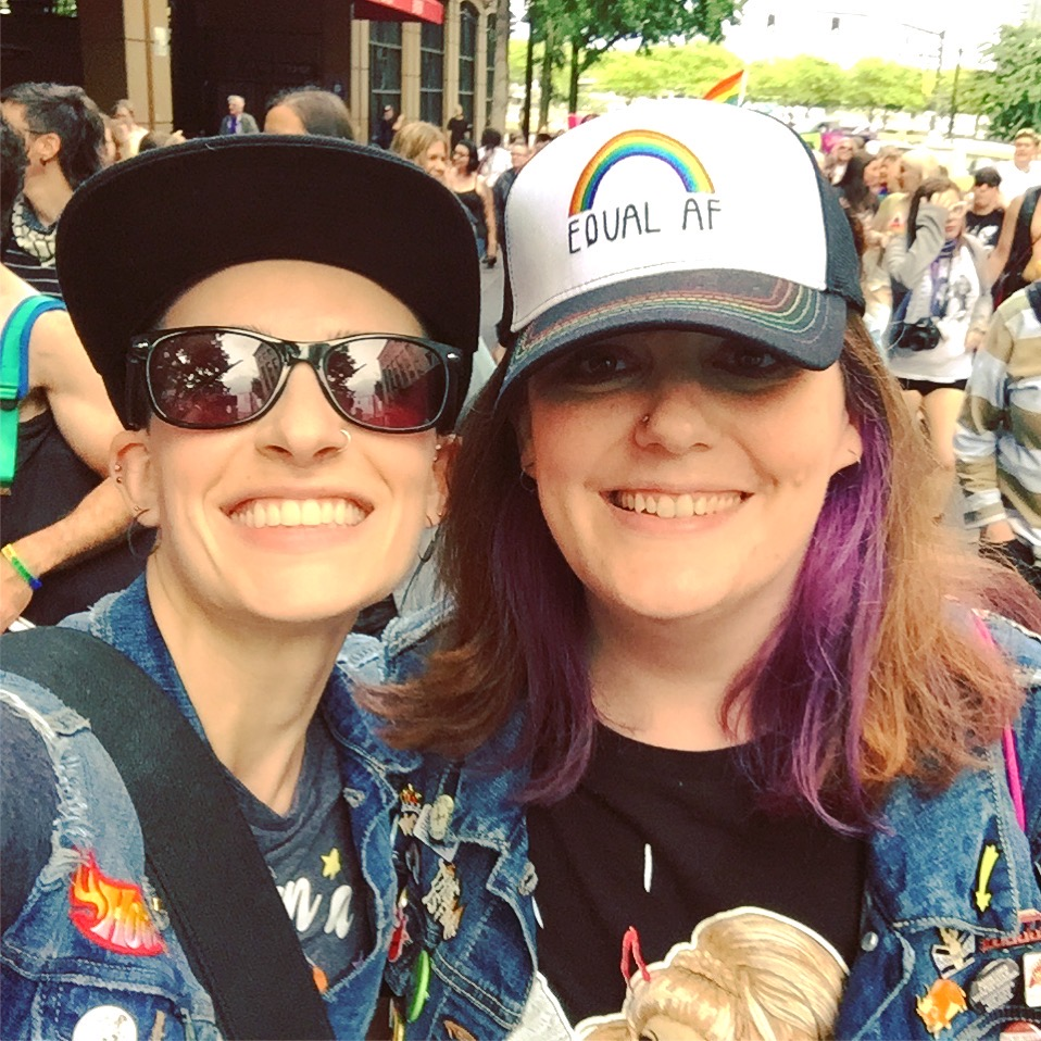 Kelsae and Cari at the 2018 PDX Dyke March
