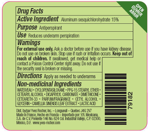 Fraicheur the vert antiperspirant and deodorant roll-on back label.jpg