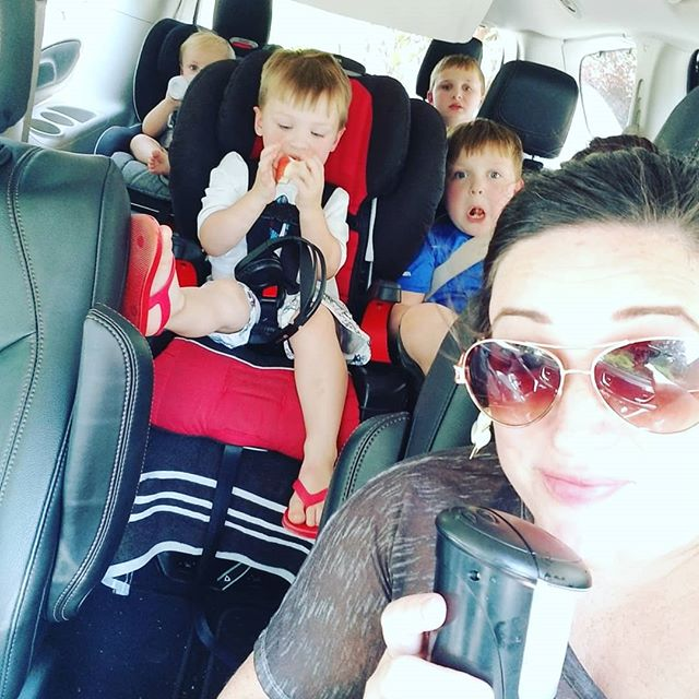 "We are celebrating International Essential Oil Day! Started with diffusing Peace and Calming while I carted these yahoos to the splash pad.... Only to have Knox break his foot at that very splash pad😷and earn a trip to Urgent care!😵 Thank heavens I never leave home without our oils! Panaway finally got Knox to call down his hysterics. You shouldve seen it... First question out of his mouth... ""Will you have to cut my foot off?"" Followed by him screaming out... ""I'm going to starve to death and die now that I can't walk!""... I had Baby Nash in a carrier on my back while I logged 70 lbs Knox on my baby bump back to our van😂😂 Thank you @leahmcphee and kind stranger for your help today... #itTakesAVillage #IEOD #EssentialOils #NeverLeaveHomeWithoutThem"