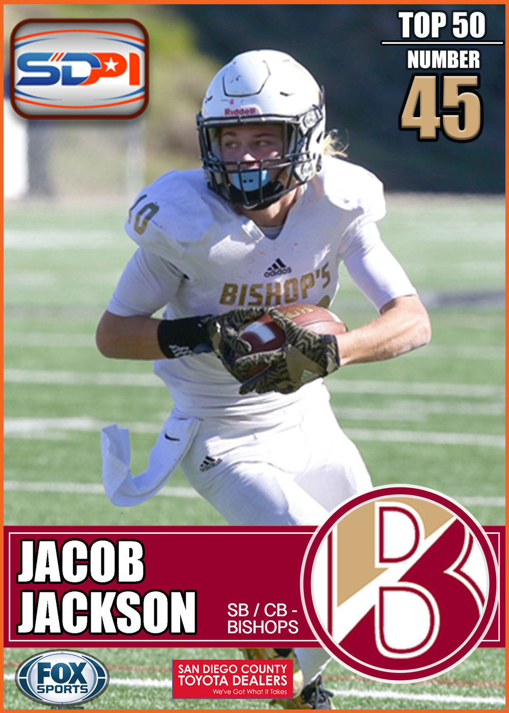 - The positions listed for Jackson understate his role on a football field. A two way player who can run any route with the best of them as well as stick at the hip of any receiver he is lined up against. A huge part of the Knight's CIF run last season he should have another monster year in 2017.Click here to see his highlights.
