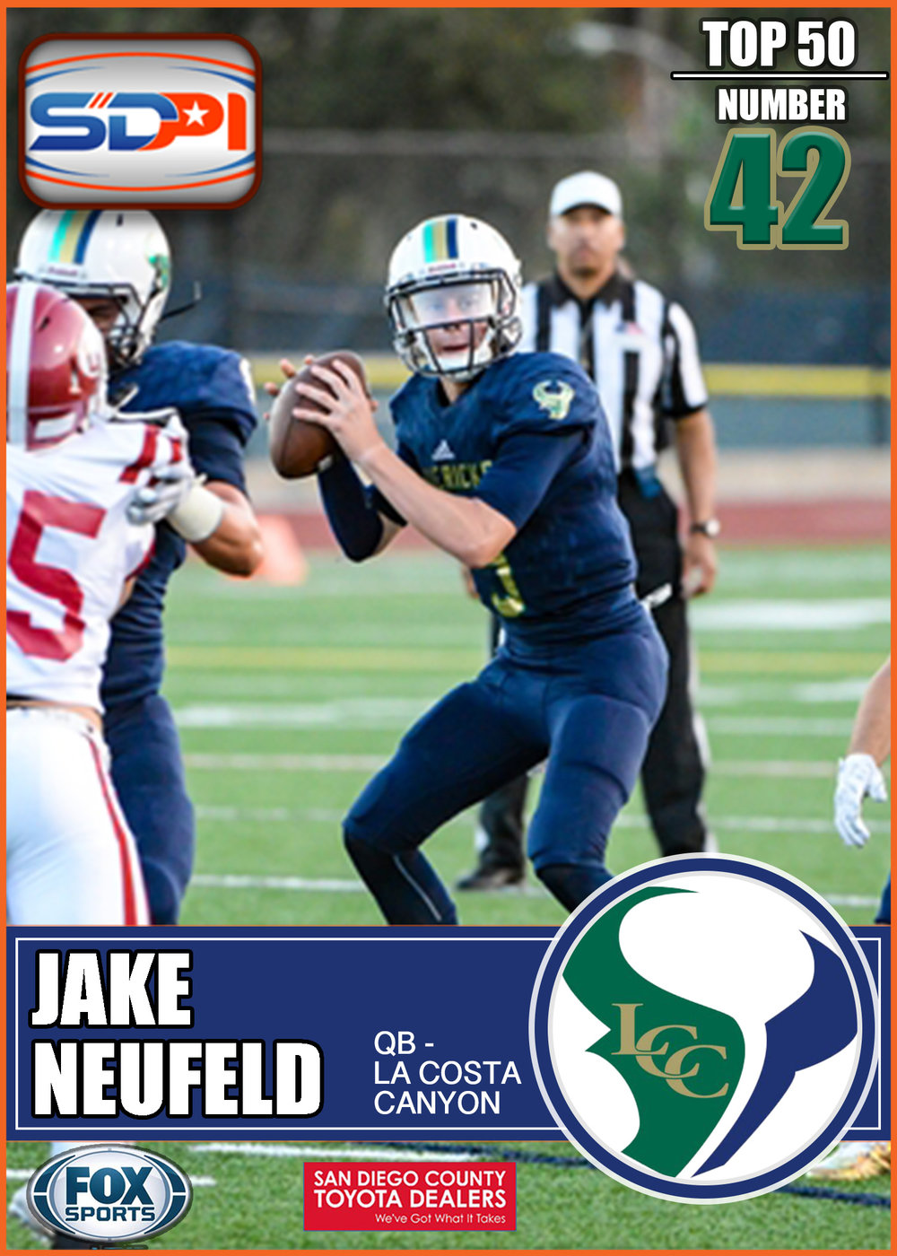 - Totaling almost 1500 yards last season in his first full season in charge of the Mavericks offense Neufeld showed that he has the tools to succeed. With a beefed up offense around him 2017 should be an marquee season for him.Click Here to see his highlights.