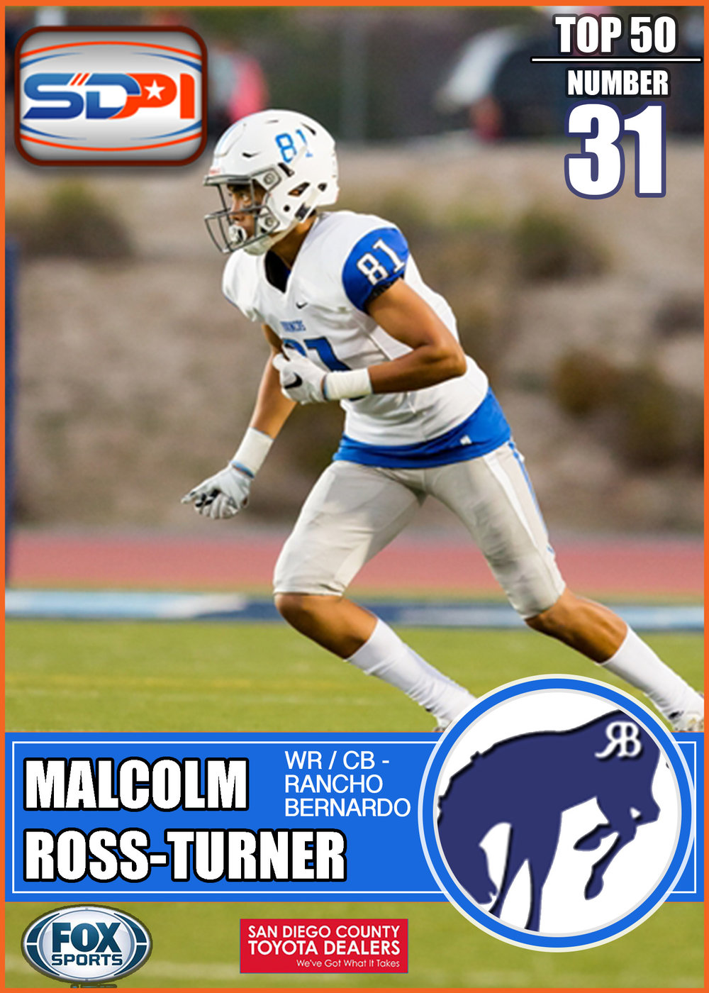 - A game-changing wideout, Malcolm is an effective run-blocker, has explosiveness tobeat press coverage off the line of scrimmage, decent speed to create separation on deeproutes, as well as great ball skills to make in-air adjustments and catch the ball at its highestpoint. This Bronco looks like Pegasus when he's flying around the field picking up nearly 18yards per catch.