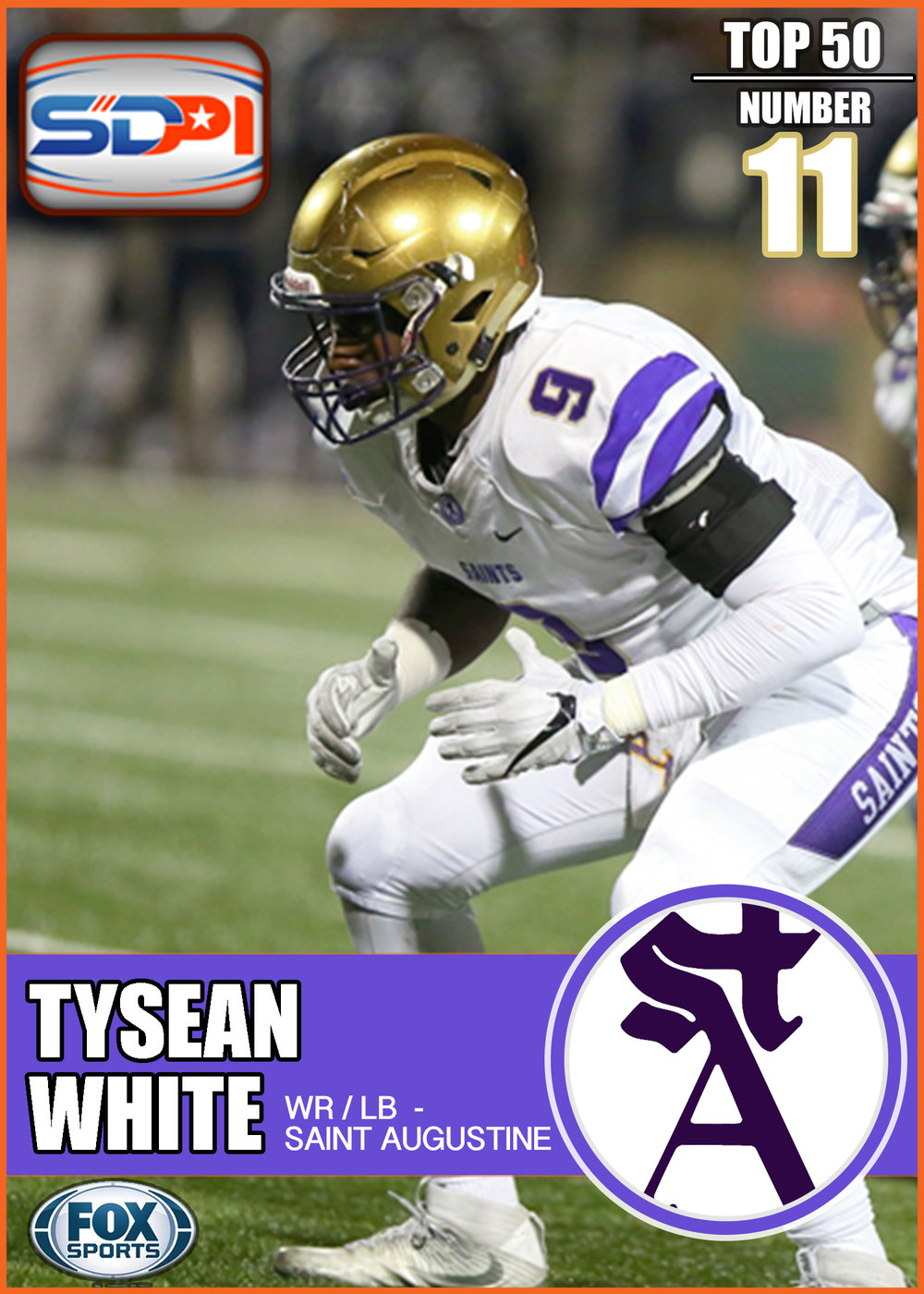 - As the third head of the monster that is St. Augustine's linebacker corps, Tysean flashes defensive tenacity each time he touches the field. In 2016, he plagued offenses for 9.5 sacks, a forced fumble, and two fumble recoveries, including one that he returned to the house. Ball-carriers be warned: you can run away, but you can't hide from White and his shut-down counterparts this season.