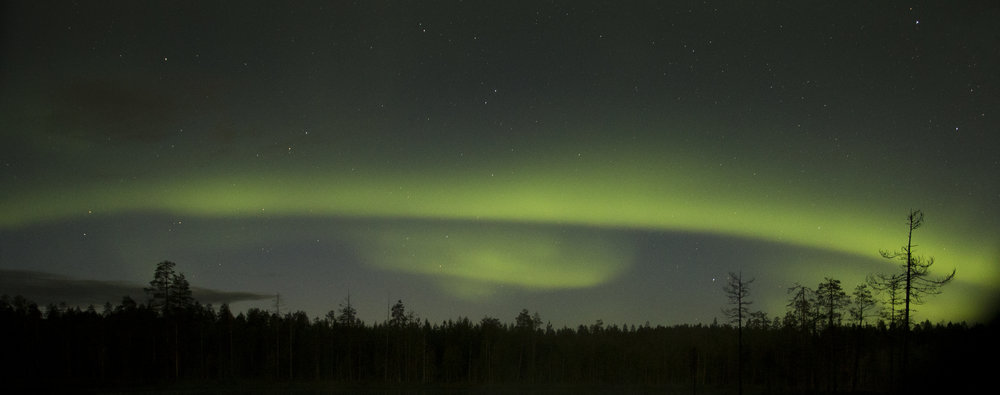 The  Aurora Borealis  as photographed from one of the North-facing hides.