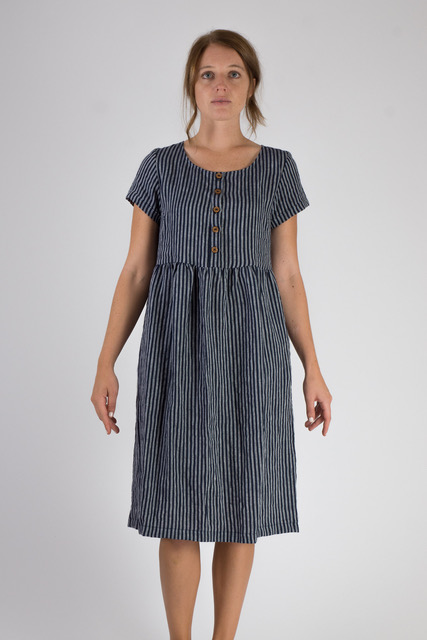 Linen-Dress-Buttons-Indigo-Stripe-Buttons-Knee-Length-Fall-Winter-Pyne-and-Smith-Model-10-Style-10100-003-01.jpeg