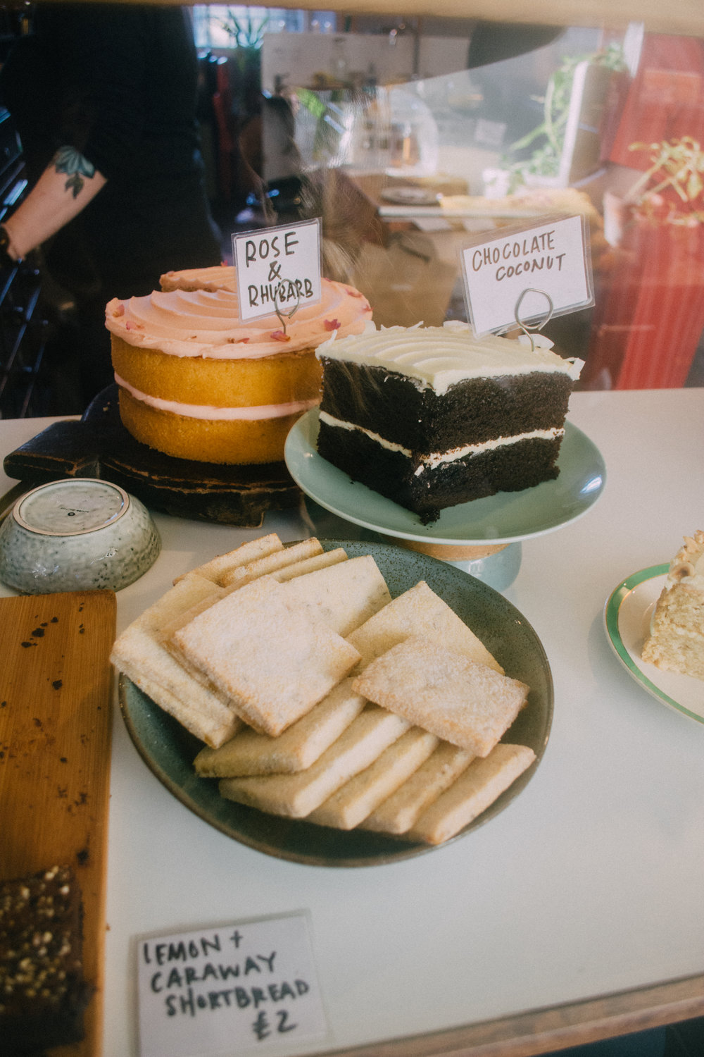 More cake, always.  - We found one of the cutest cake shops I've ever visited, Lovecrumbs, in downtown Edinburgh. The chocolate coconut cake was insanely delicious, and the space was warm and inviting.