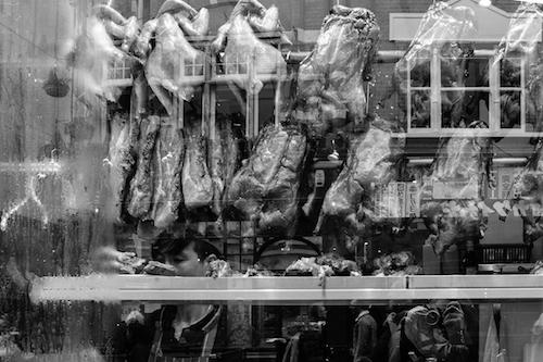 Fuji X100F: A shot through a window in Chinatown