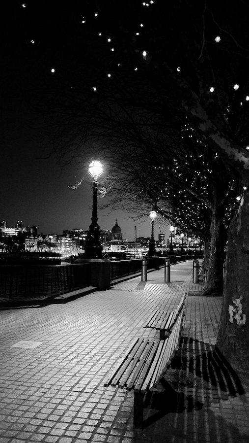 Fuji X70 - Empty Benches, South Bank, London