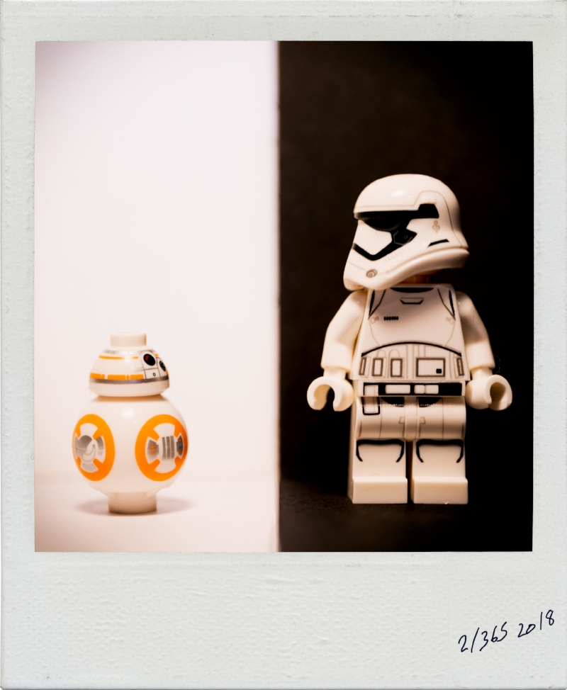 Stormy the Stormtrooper and BB8 by Malcom Smith