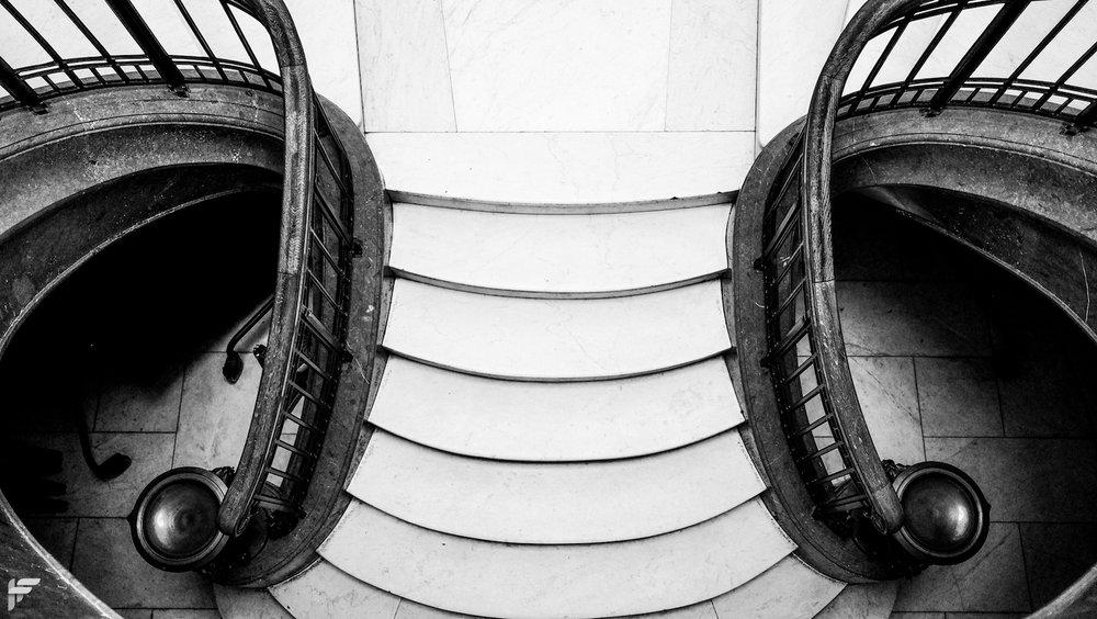 Staircase, Edinburgh - Fuji X70