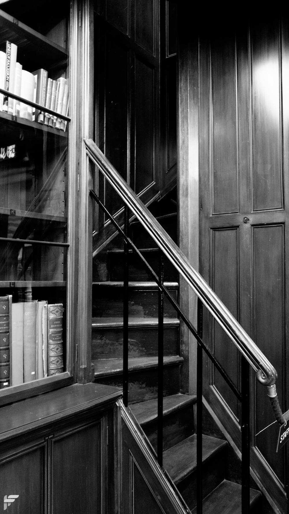 Library Staircase, Edinburgh - Fuji X70