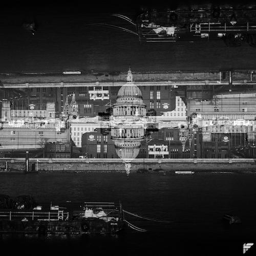 Double exposure of St Pauls - Fuji X100F