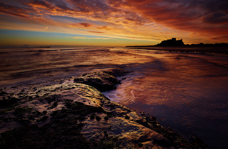 Bamburgh Beach Dawn by Steve Oxley