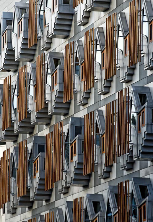 Detail Scottish Parliament by Mike Hudson