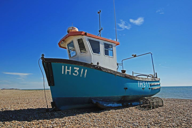 Fishing Boat on Aldeburgh by Stuart Midgley