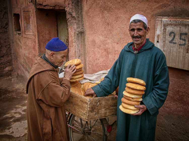 Bread Sellers, Marrakech, Morocco