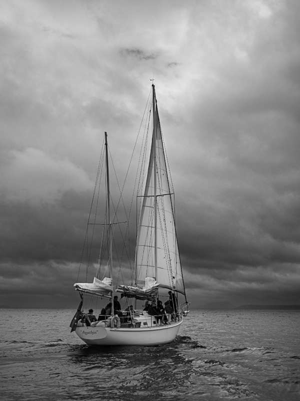 "Yacht ""Agathis"", Lake Taupo, New Zealand"