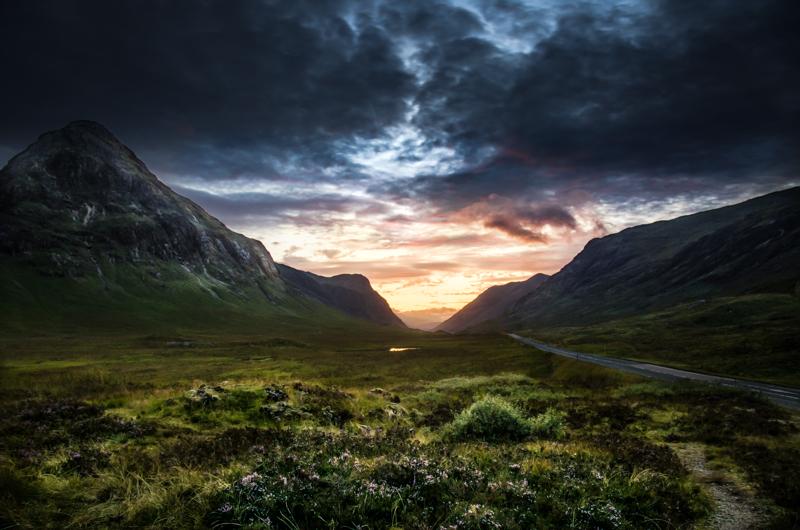 Glencoe sundown