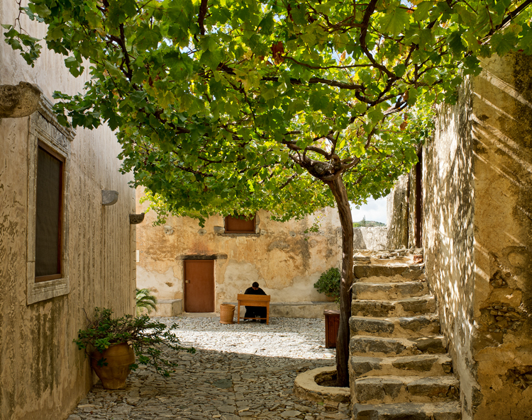 A Monastic Existence, Crete by Mike Hudson