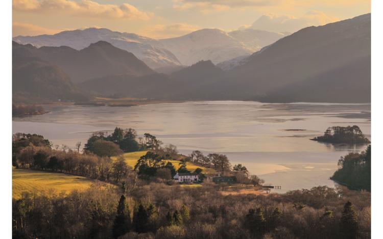 Derwent Water a winter's view by Ian Birtwistle