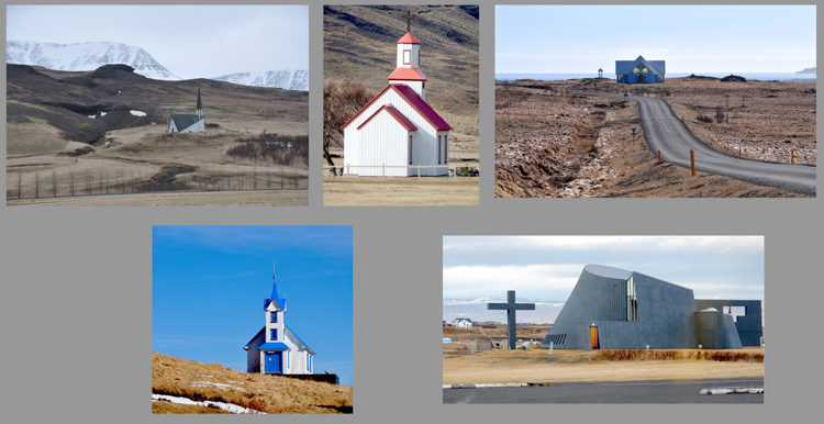 Churches in Iceland by Michael James Dolan