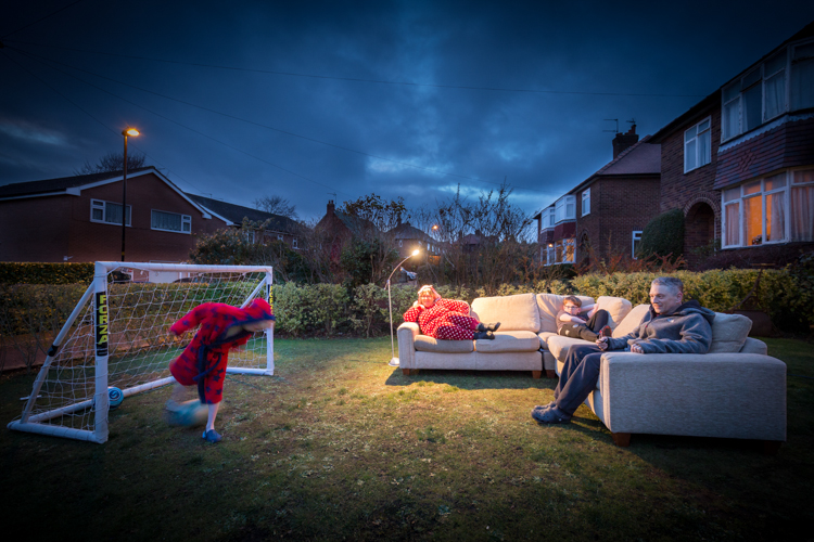 Watching live football from the sofa by Mike Morley