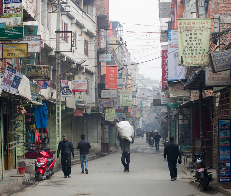 Early morning delivery Kathmandu by Nigel Harcourt-Brown