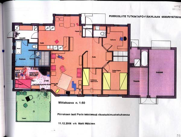 The floorplan of the family home