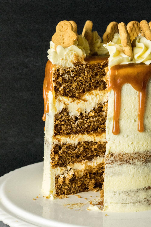 White Chocolate Caramel Gingerbread Cake 4