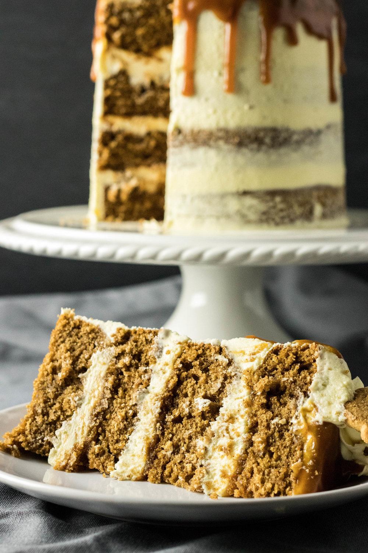 White Chocolate Caramel Gingerbread Cake 5