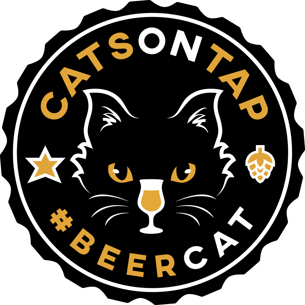 Our #beercat logo with a tulip design.