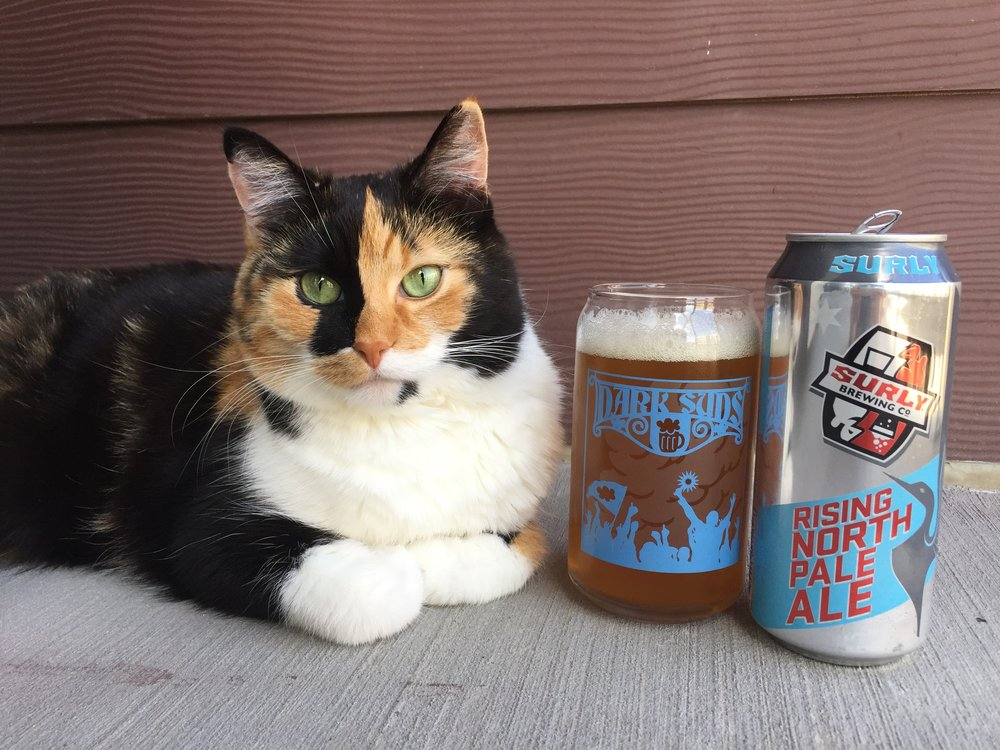 #beercat Milly is always ready for a Minnesota United FC match with Surly Brewing's Rising North Pale Ale.